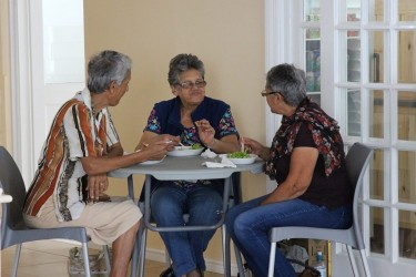 Customers at our new Sandwich Bar